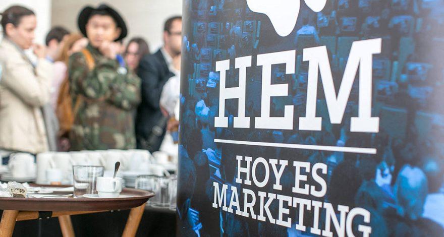 Cartel del evento HEM Hoy es marketing organizado por la ESIC