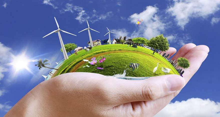 Una mano sosteniendo un ecosistema destacando la importancia de la Responsabilidad Social Corporativa