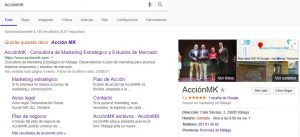 Google My Business AcciónMK