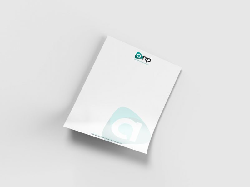 Folio con logo de GRUPO ANP