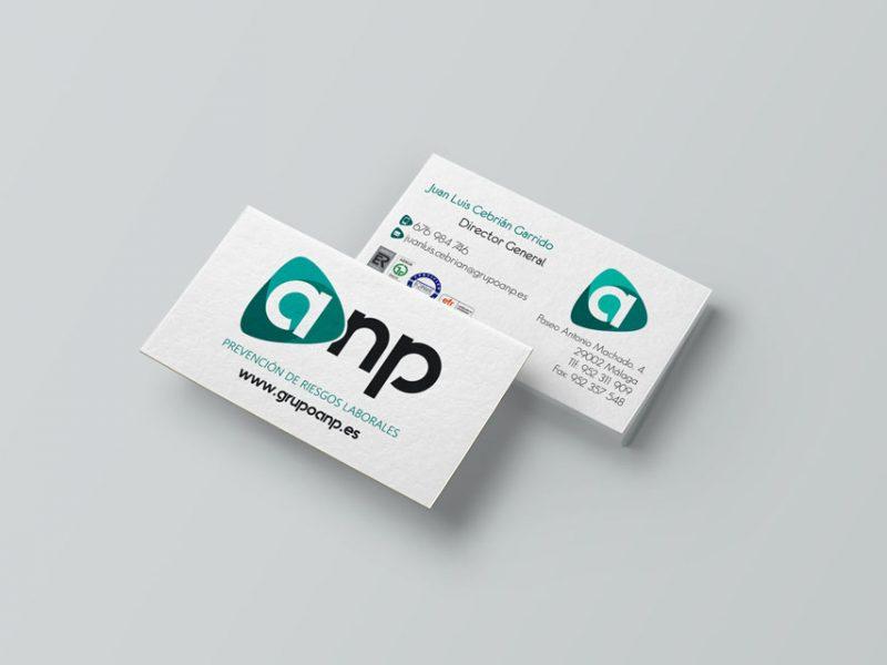 Tarjetas de visita de GRUPO ANP