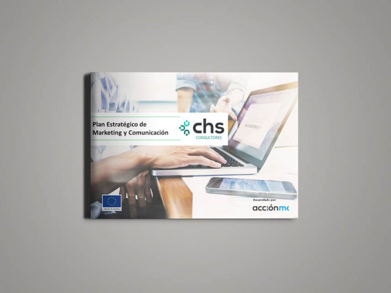 Plan estratégico de Marketing y Comunicación en formato papel de CHS Consultores