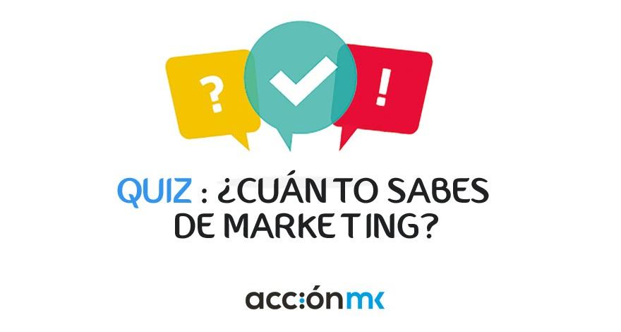 Portada para un Quiz sobre marketing