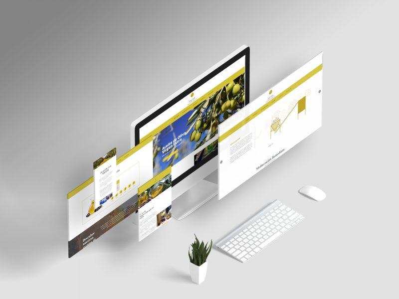 Mockups de diferentes formatos para páginas web