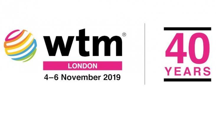 Logo, fecha y cuarenta aniversario de la feria del WTM (World Travel Market)
