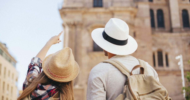jóvenes Turistas en Málaga